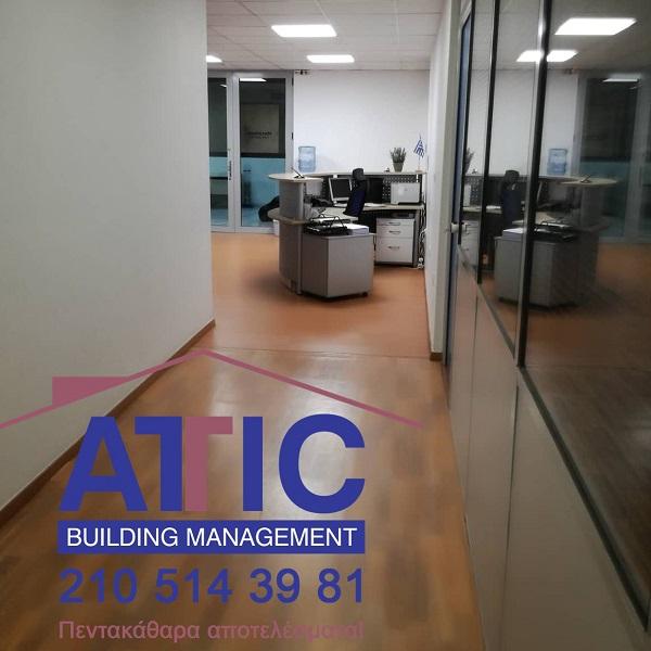 τακτικοί καθαρισμοί γραφείων attic building services